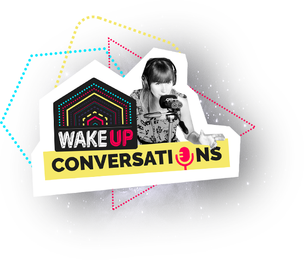 logo wake up conversations podcast